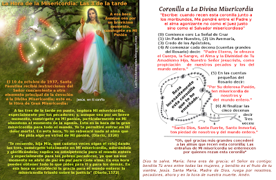 imagen de la divina misericordia con texto