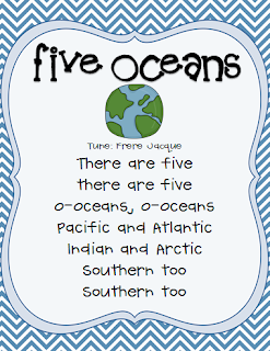 Once Upon A Learning Adventure Oceans Freebies - Five oceans