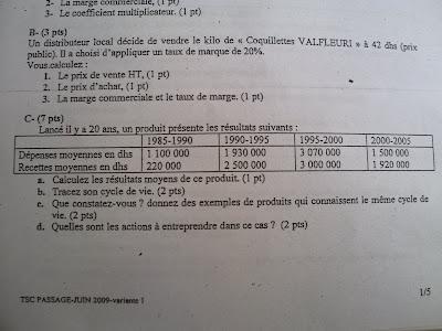 Examen de passage TSC