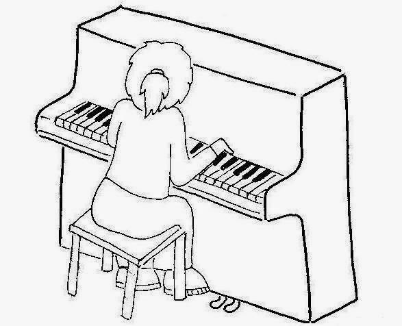 Dibujos para colorear maestra de infantil y primaria - Coloriage piano ...