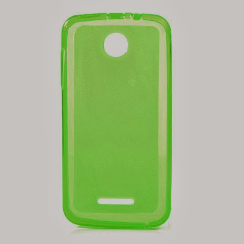 Pudding TPU Jelly Case Cover Protector for Lenovo A390 - Green