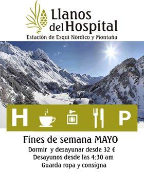 Oferta Llanos del Hospital para los fines de semana de mayo