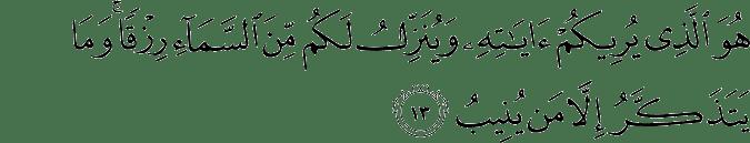 Surat Al Mu'min Ayat 13