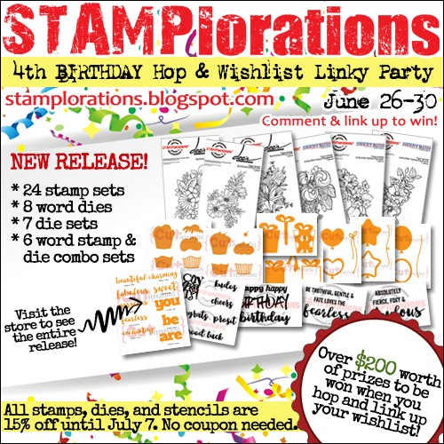 STAMPlorations 4th birthday blog hop!