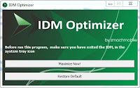 IDM Optimizer - Software Untuk Mempercepat Download IDM
