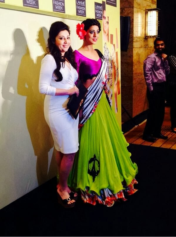 Mahi Gill and Neha Sharma at Lakme Fashion Week summer resort 2014