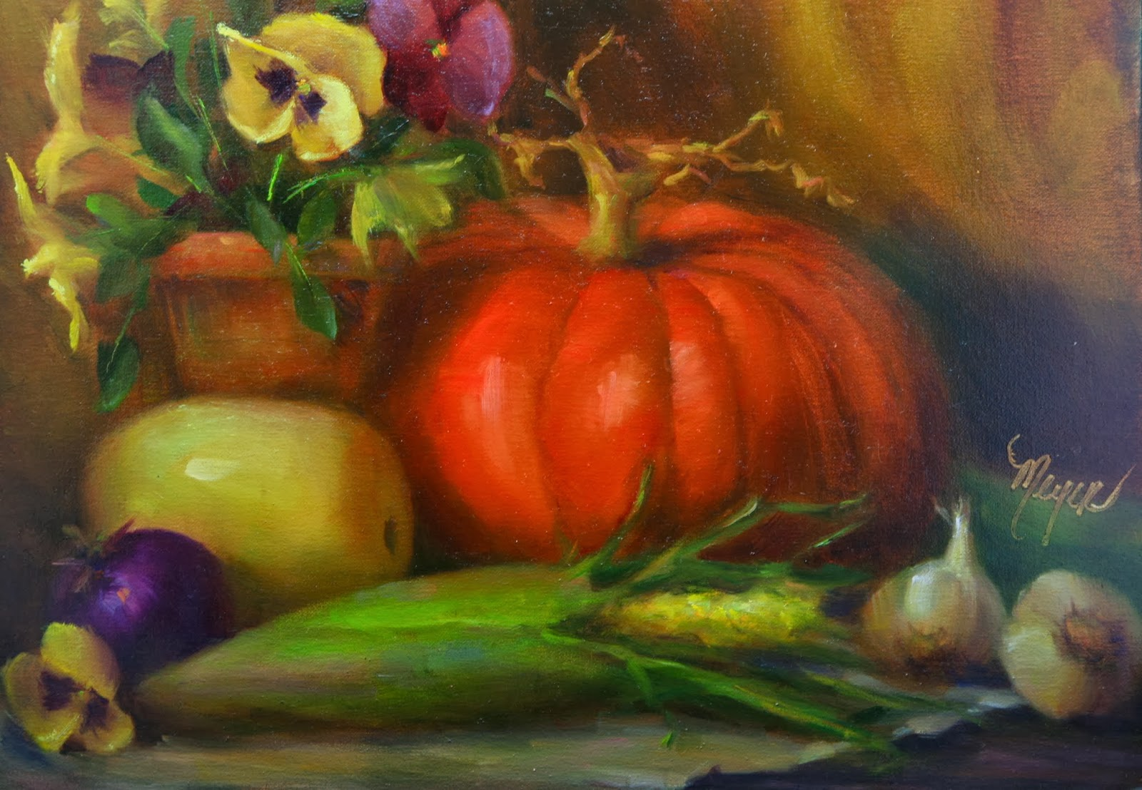 Artists Of Texas Contemporary Paintings and Art: PUMPKIN ...