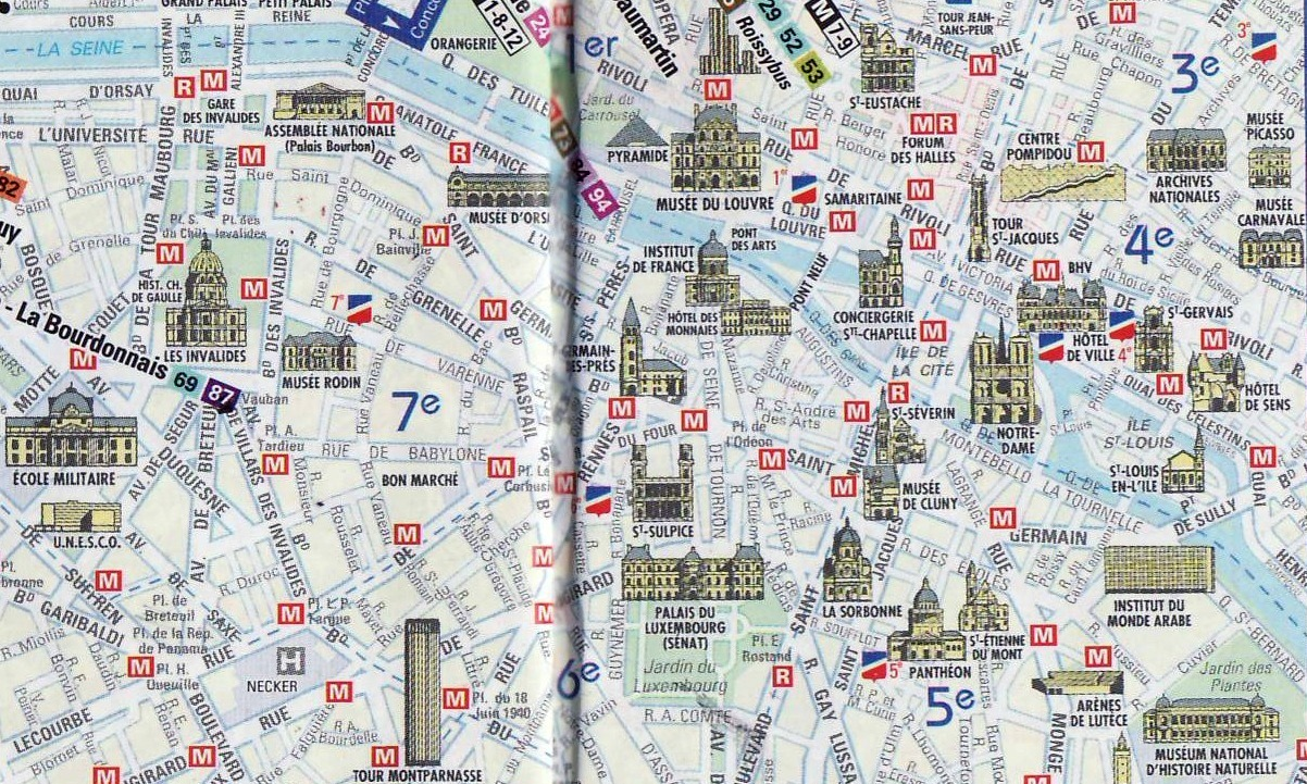Paris Breakfasts Mini Paris Monuments - Paris map monuments