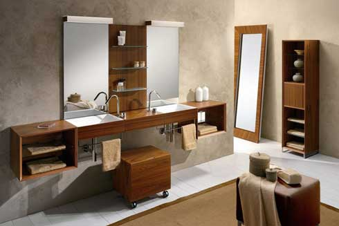 Mirrored Bathroom Cabinets on Bathroom Vanities   Bathroom Vanities Photo   Modern Cabinet