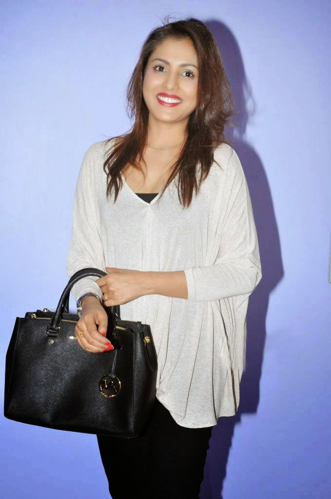 Actress Madhu Shalini Latest Cute Hot White Top Dress Spicy Photos Gallery At Ladies And Gentlemen Movie Preview Show