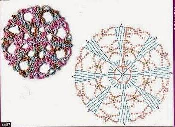Patrón de flor geométrica
