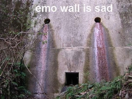Emo Wall Is Sad