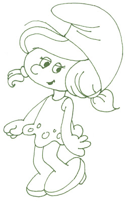 Smurf Coloring Pages,Smurfette Coloring Pages
