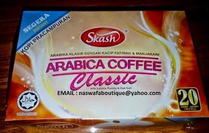 ORDER : KOPI PRACAMPURAN ARABIKA EKSTRAK MANJAKANI & KACIP FATIMAH