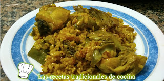 Paella de Habas y Alcachofas