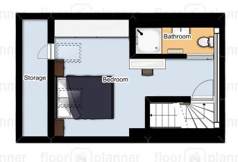 Floor Plan Attic / Loft with Dorma