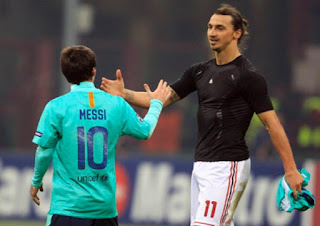 Ibrahimovic dan Messi
