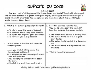 36 Free Resources: Authors Purpose