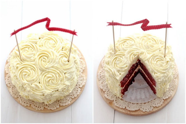 ... . By Chelle.: Red Velvet Cake with Vanilla Cream Cheese Frosting
