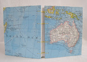 I completed this custom travel journal with a map of Australia.