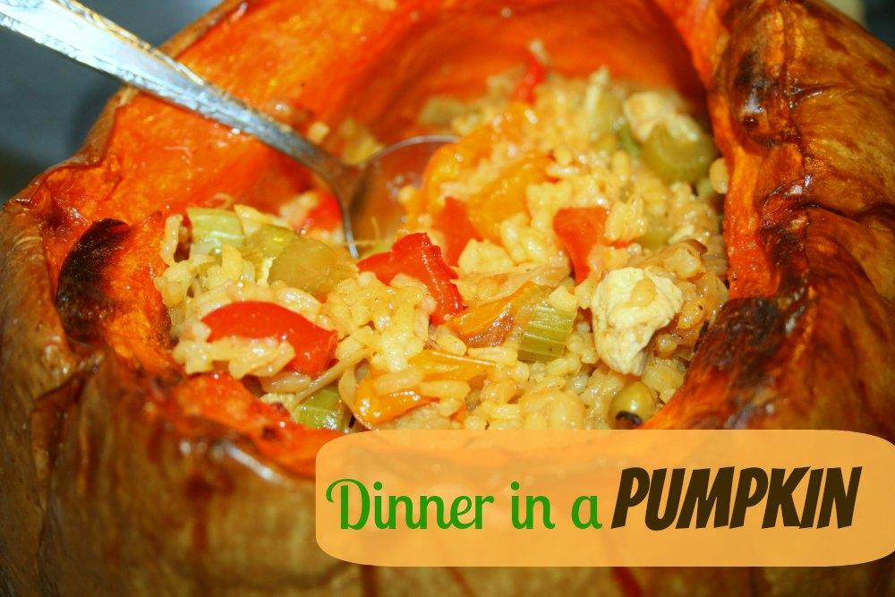 Easy Dinner in a Pumpkin