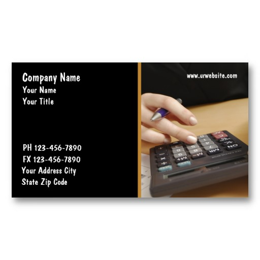 Accountant Business Cards1