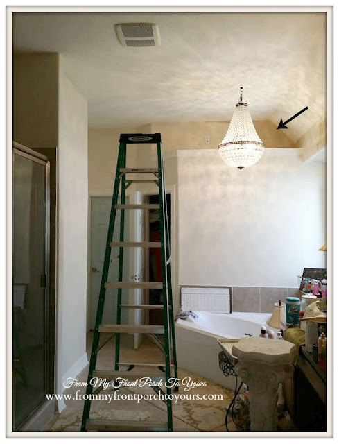 Master bathroom new paint- Sherwin Williams Antique White- From My Front Porch To Yours
