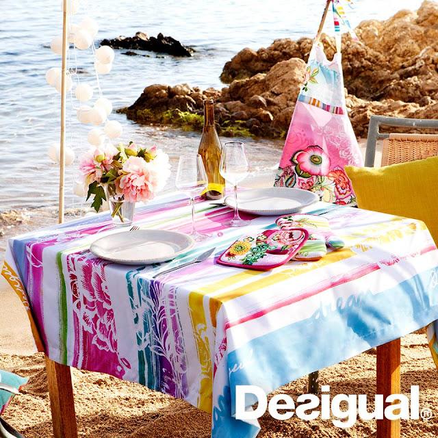 Gama de colores para un banquete de boda de verano - Foto: Desigual