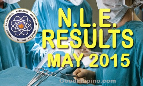 NLE Results 2015: Nursing Board Exam List of Passers (MAY 2015)