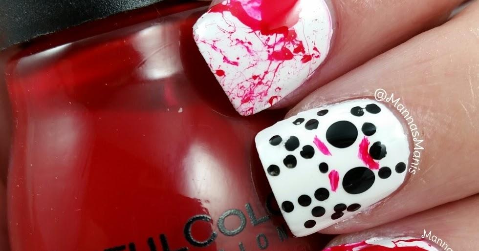 Tutorial: Jason Voorhees nails - Manna\'s Manis