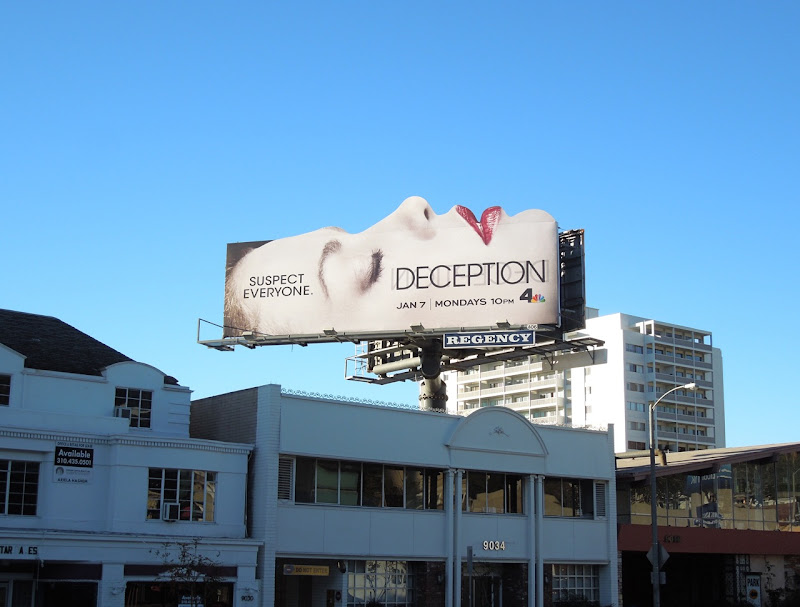 Deception season 1 face billboard
