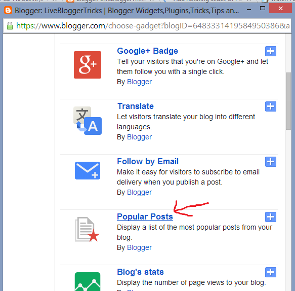 Sliding Style Popular Posts Widget To Blogger