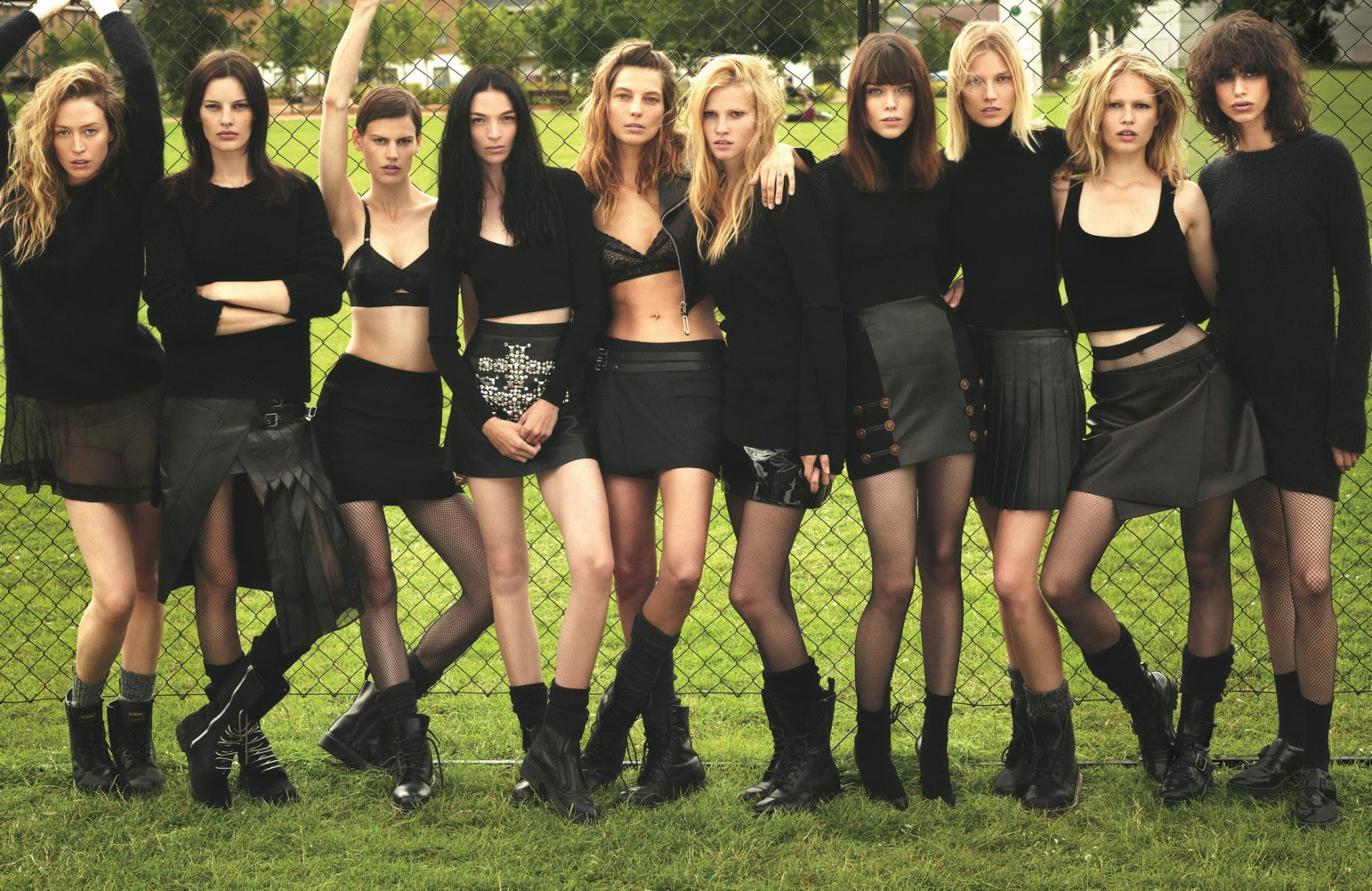 Super normal super models by Mert & Marcus for W Magazine