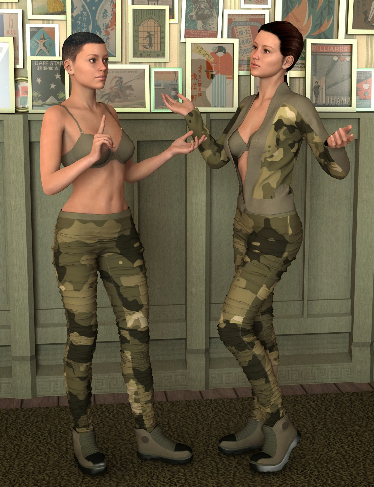 Brat armée pour Genesis 2 Femme