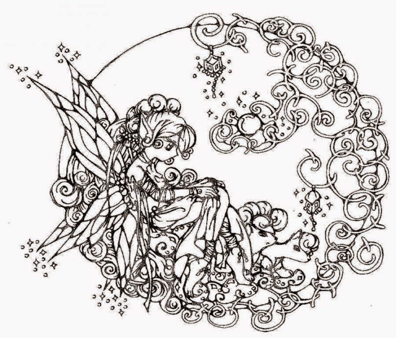 difficult coloring pages for girls - photo#29