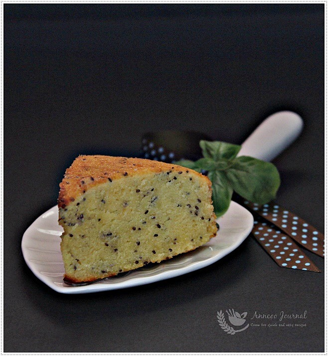 Chia Seeds Almond Butter Cake 黑奇异籽杏仁牛油蛋糕 | Anncoo ...
