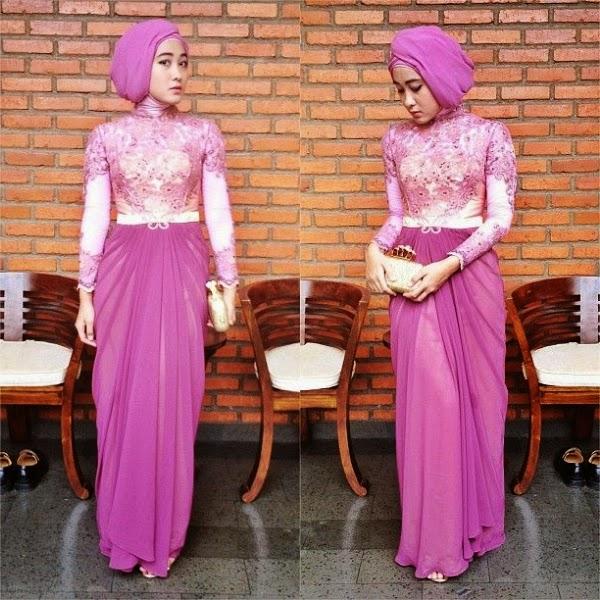 Model 6. Hijab Kebaya Modern Terbaru 2015