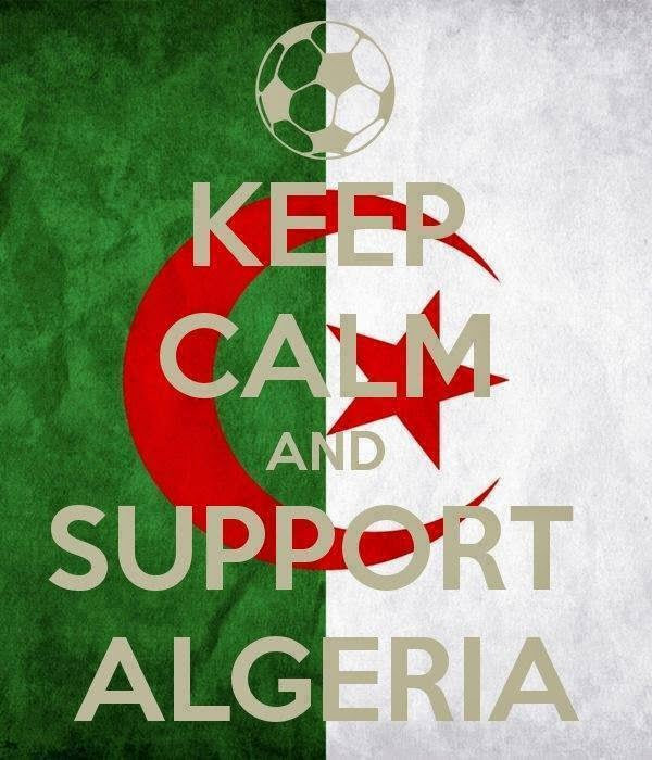 Keep CALM AND SUPPORT ALGERIA world cup