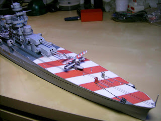 Battleships Zara Papercraft, Replika Italian cruiser
