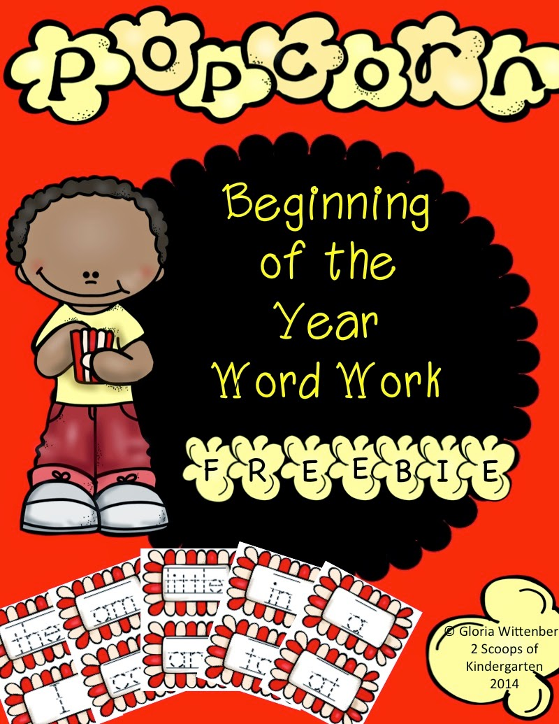 http://www.teacherspayteachers.com/Product/Beginning-of-the-Year-Word-Work-in-Kindergarten-1347147