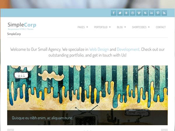 SimpleCorp drupal theme