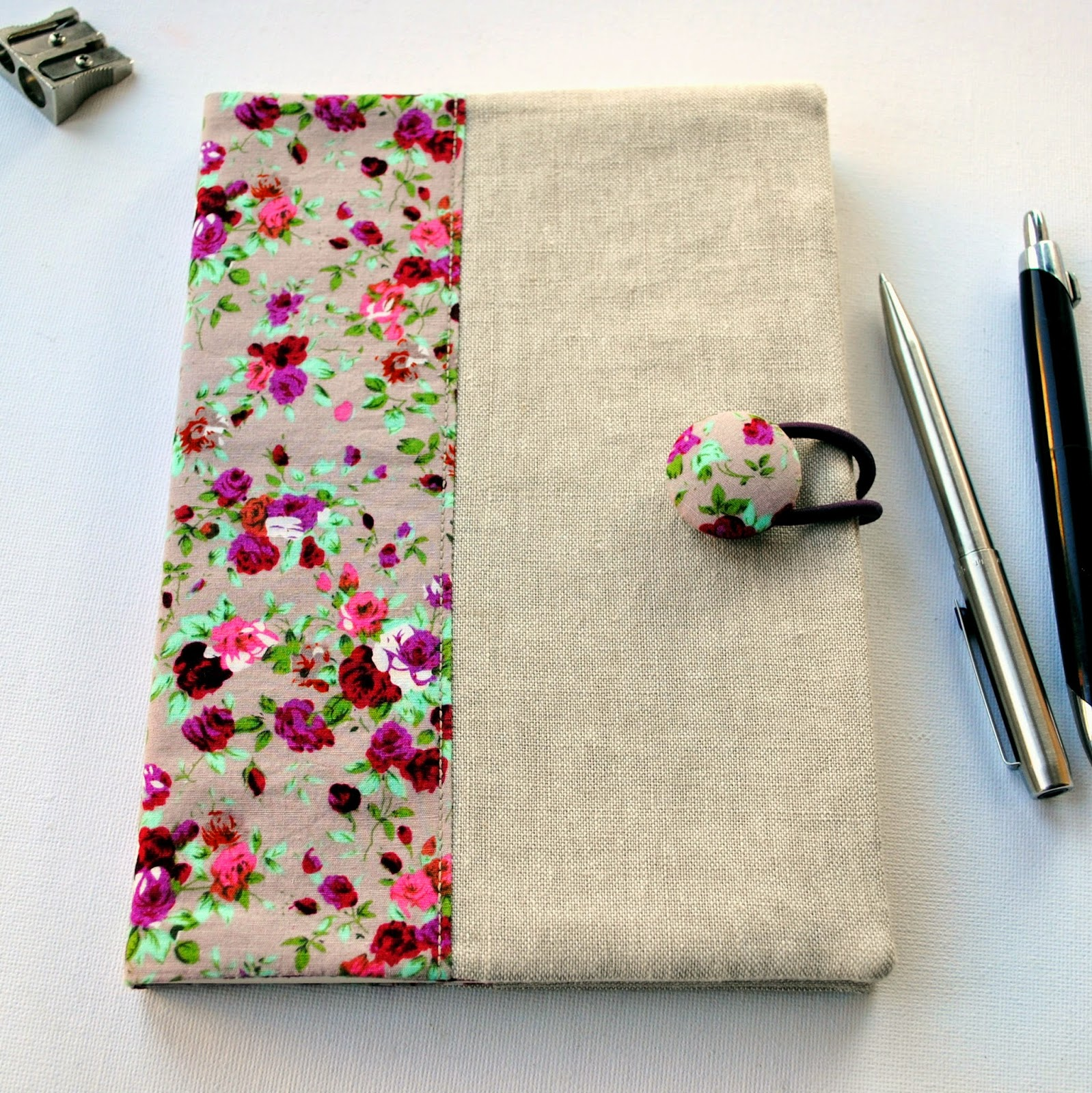 Fabric Cover For Book : Sewforsoul fabric notebook cover tutorial