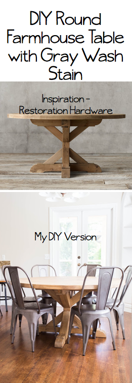 ... Restoration Hardware Round Farmhouse Table For Some Time, But Not The  Price Tag. I Knew I Could Have My Engineer Hubby Build Me One Just Like It  For A ...