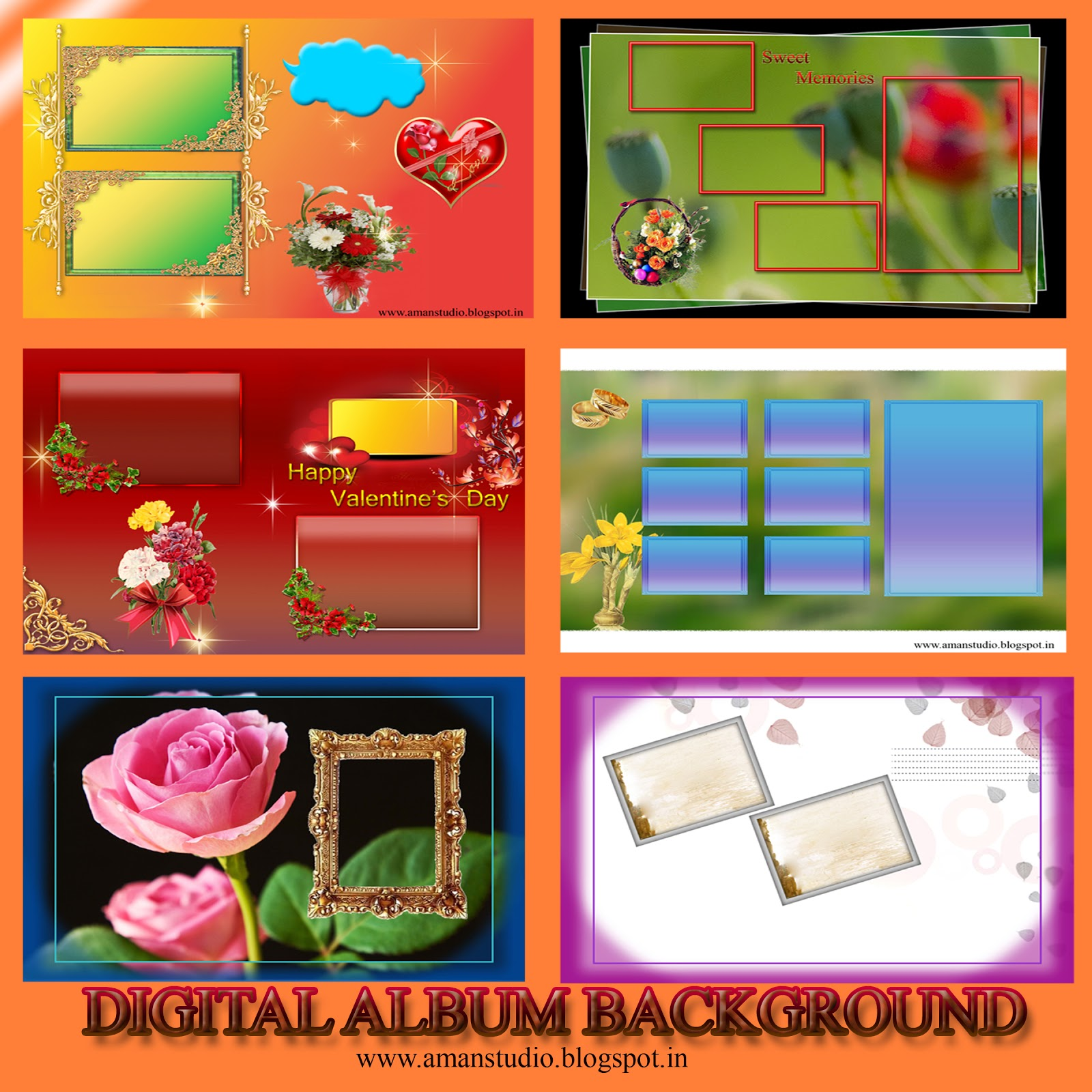 Digital Album Background psd & jpeg
