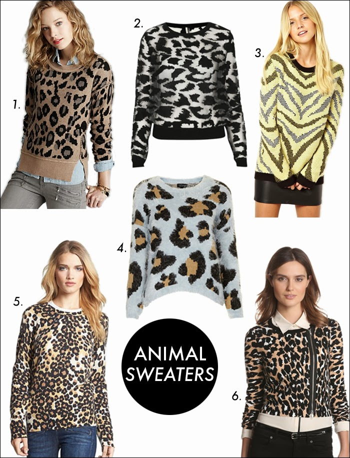 animal sweaters, nordstrom, topshop, tracy reese, amazon fashion, fuzzy sweaters, christmas gifts, fashion, trends, leopard print