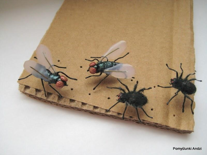 kolczyki muchy, pająki, fly, spiders,