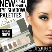 Eyeshadow palettes from Sigma