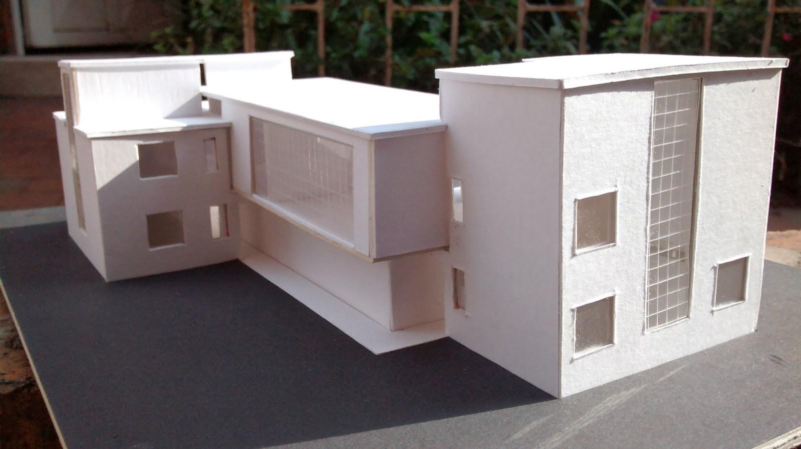 Historia de la arquitectura moderna walter gropius for Casa moderna maqueta