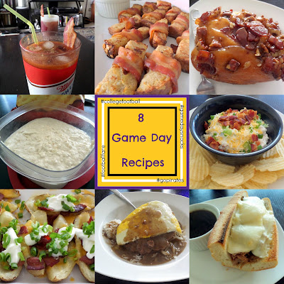 8 Game Day Recipes:  A round-up of my favorite gameday recipes.  From drinks to breakfasts snacks and meals there is something for everyone.
