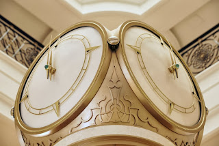 The grand lobby clock at Waldorf Astoria RAK (Image Supplied)